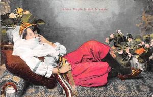 Egypt, Egypte, Africa Femme turque faisant la sieste  Femme turque faisant la...