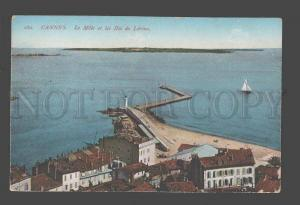 085232 FRANCE Cannes LIGHTHOUSE & port Vintage PC