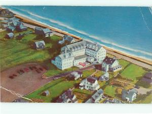 Cliff Hotel and Cottages North Scituate Beach Massachusetts  Postcard # 8888