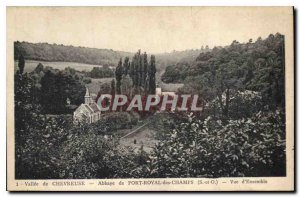 Postcard Old Chavreuse Vallee de Port Royal des Champs Abbey S and O Overview