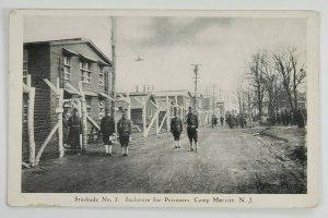 Camp Merritt NJ Stockade No.1 Inclosure for Prisoners WW1 Era Postcard P16