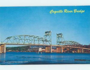 Unused Pre-1980 BRIDGE SCENE Bandon - Near Coos Bay Oregon OR H7814