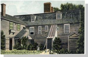 Unique Salem, Mass/MA Postcard, Rear Of Witch House