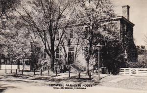 Ludwell Paradise House Williamsburg Virginia Real Photo