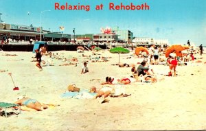 Delaware Rehoboth Beach Relaxing At The Beach