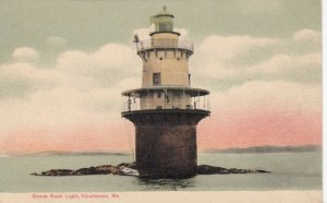 VINALHAVEN  , Maine , 1900-10s ; Goose Rock LIGHTHOUSE