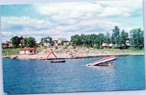 Cochrane Beach at Commando Lake, Ontario Canada postcard