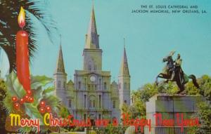 Louisiana New Orleans St Louis Cathedral and Jackson Memorial