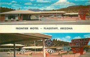 Flagstaff Arizona Postcard Frontier Motel Route 66 roadside Bradshaw 21-7330