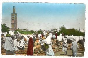 RP: Tanger. Marchand de poteries au Grand Socco , Morocco , 30-40s