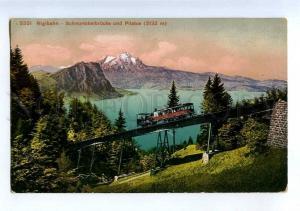 206430 SWITZERLAND RIGIBAHN railway Pilatus Vintage postcard