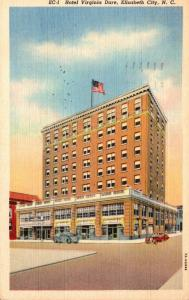 North Carolina Elizabeth City Hotel Virginia Dare 1940 Curteich
