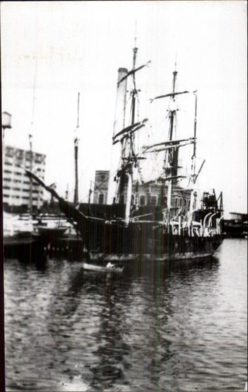 Port Bow of New Bedford MA Whaling Ship Reprint c1960s Real Photo Postcard #1