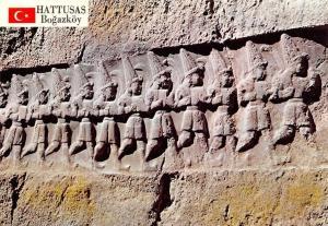Turkey Bogazkoy Hattusas (Sungurlu) Yazilikaya'da Asker Tanrilar