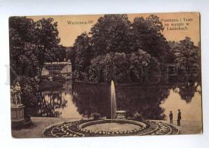 192402 POLAND WARSZAWA Lazienkach fountain Vintage postcard