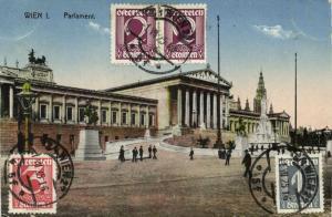 austria, VIENNA WIEN I, Parlament, Parliament (1925) Stamps