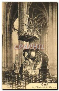 Old Postcard Ghent The Chair of St Bavo
