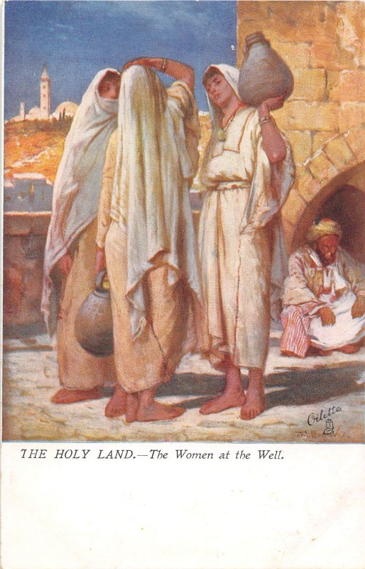 The Women at the Well The Holy Land 1910c Tuck postcard