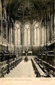 UK - England, Cambridge. St Johns College Chapel Interior