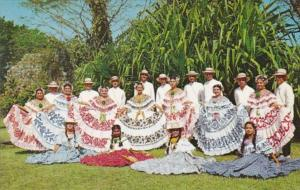 Panama Folkore Dancers Wearing Polleras and Montunas