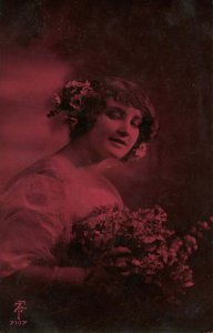 Flowered Lady    *RPPC