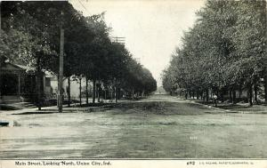 Union City Indiana~Main Street Homes~Looking North~Dirt Road~1908 CU Williams PC