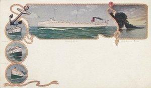 Anchor Line coastal Steamships , TIONESTA , PMC 1898