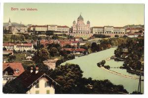 Switzerland Bern von Walbern Panoramic View Postcard