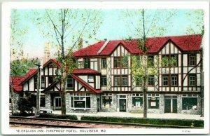 Hollister, Missouri Postcard YE ENGLISH INN, Fireproof Hotel Street View 1930s