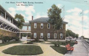 LAKE MANAWA, Iowa, PU-1910; Club House, Council Bluffs Rowing Association