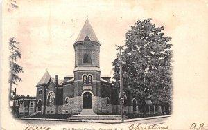 First Baptist Church Oneonta, New York Postcard