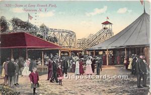 Syracuse, New York, NY, USA Postcard Scene at Long Branch Park 1916