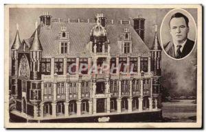 Old Postcard Chateau of deaf mute dreams Brestois Prigent