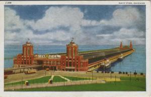 Nayv Pier ~ Chicago Illinois IL Vintage c1944 Postcard