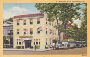Pennsylvania Stroudsbury The American House Curteich