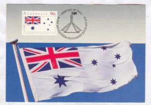 Maximum Card; Australia Day 1991; First Day of Issue Flag Stamp : White Ensign