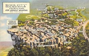 Lookout Mountain TN~Rock City Gardens~Fairyland~Labeled Aerial View 1935