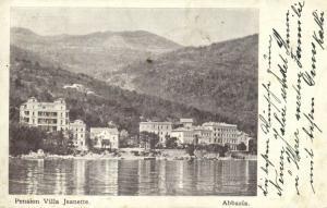 croatia, ABBAZIA OPATIJA, Pension Villa Jeanette (1902) Stamp