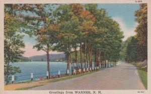New Hampshire Greetings From Warner 1947 Curteich