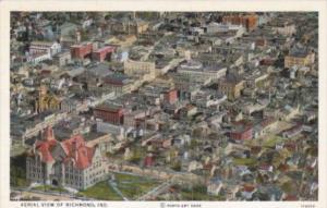 Indiana Richmond Aerial View 1936 Curteich