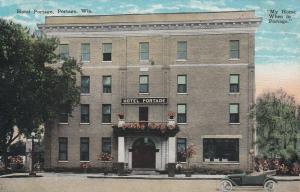 PORTAGE , Wisconsin, 1927 ; Hotel Portage, Sunday Menu on back