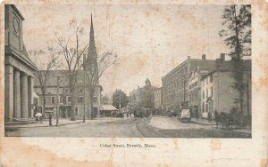 Cabot Street Horse Buggy People c1905 Beverly MA UDB VTG P138