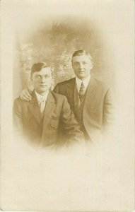 Postcard RPPC Brothers Photo