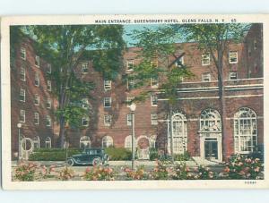 W-Border HOTEL SCENE Glens Falls - Lake George New York NY H1303