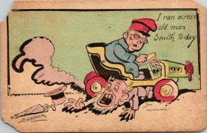 Postcard Ran Across Old Man Smith Today 1908 Humor Funny Philadelphia Penn 1250