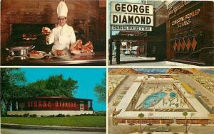 Chicago Illinois~George Diamond Himself~Charcoal Broiled Steaks $1.95~1962