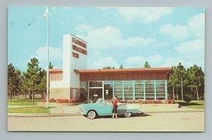 1950s Welcome Center Woman Car Florida FL Postcard
