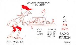 ACBKBI3602 Colonial Morristown, NJ, USA QSL Writing on Back