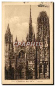 Old Postcard La Cathedrale De Rouen Together