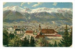 Innsbruck , Austria , PU-1913   Panorama view